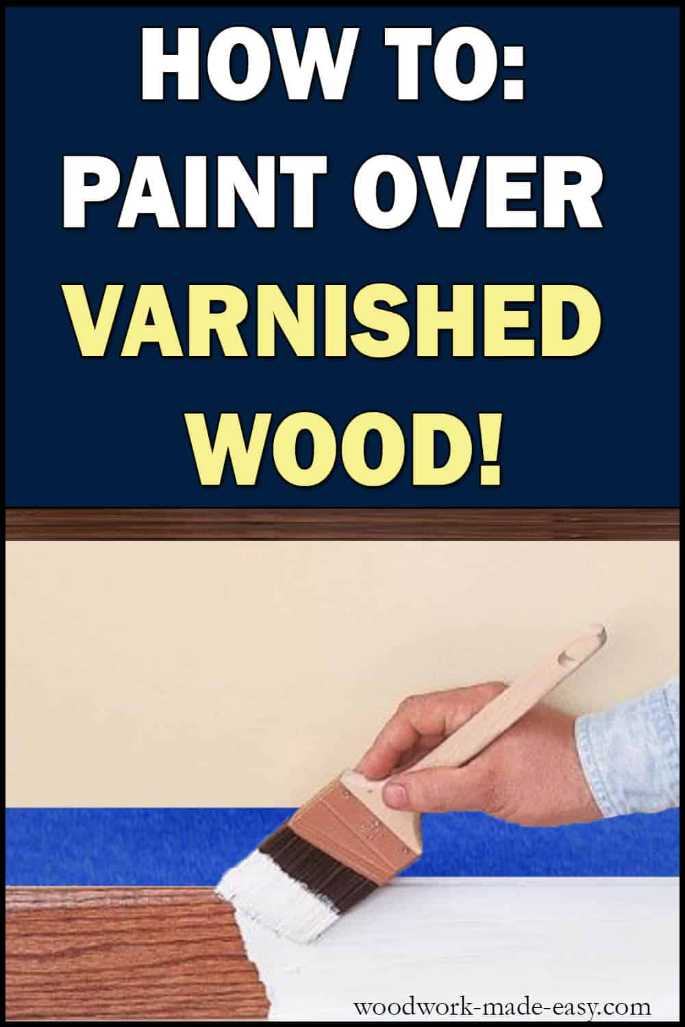 Painting Wood Trim White Without Sanding
