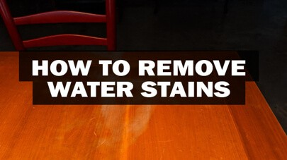 Remove Dark Water Stains From Wood