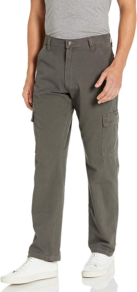 Wrangler Authentic Men's Classic Twill Relaxed Fit Cargo WORK Pant